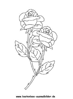 ausmalbilder rosen | ausmalbild rosen 8