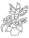 Ausmalbilder Blumen im Topf