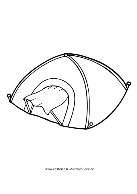 Camping Zelt - Camping ausmalen | Malvorlagen