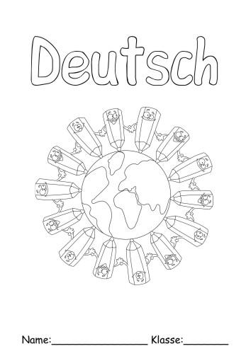Deckblätter Deutsch 1   Deutsch zum ausmalen