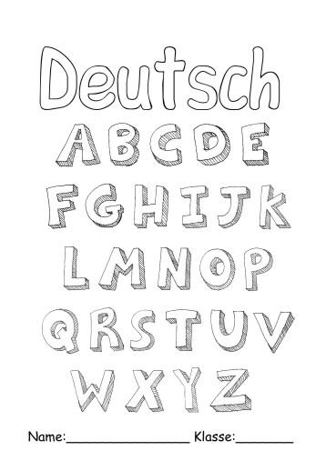 Deckblätter Deutsch 11 Deutsch Zum Ausmalen