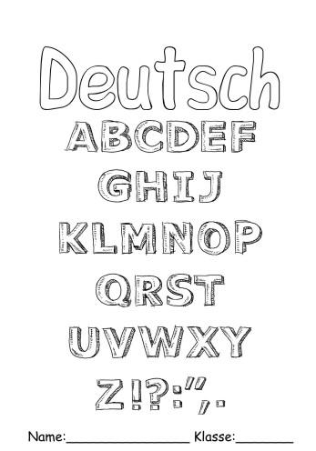 Deckblätter Deutsch 13 - Deutsch zum ausmalen