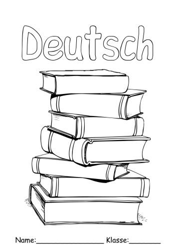 Deckblätter Deutsch 15 - Deutsch zum ausmalen