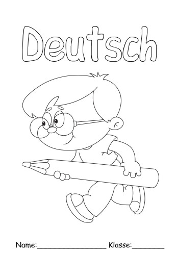 Deckblätter Deutsch 6 Deutsch Zum Ausmalen