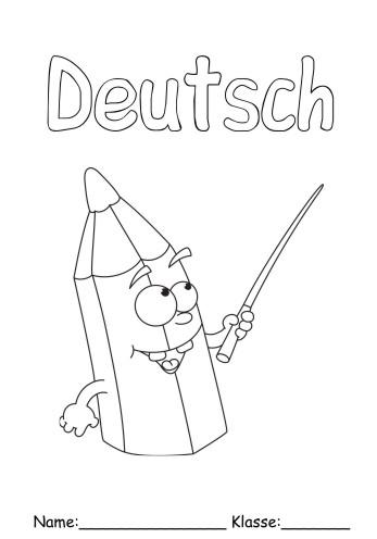 Deckblätter Deutsch 7 - Deutsch zum ausmalen