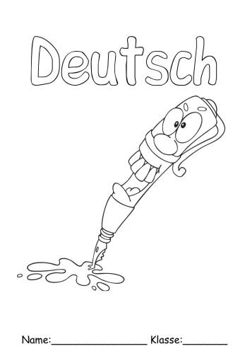 Deckblätter Deutsch 9 Deutsch Zum Ausmalen
