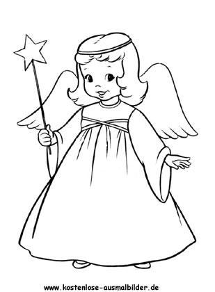 Ausmalbilder Malvorlagen Engel Mädchen Zum Ausmalen