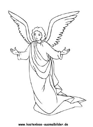 Engel zum ausmalen kostenlos - Engel ausmalen | Malvorlagen Engel ...