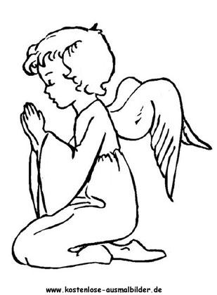 betender engel zum ausmalen - engel ausmalen | malvorlagen