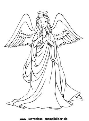 Heiliger Engel Zum Ausmalen Engel Ausmalen Malvorlagen Engel