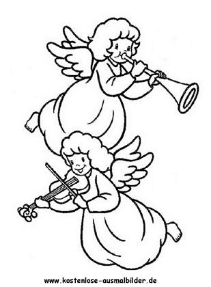 Musizierende Engel Zum Ausmalen Engel Ausmalen Malvorlagen Engel