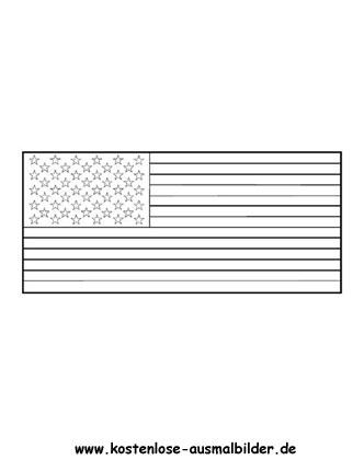 Ausmalbilder Malvorlagen Fahnen Usa