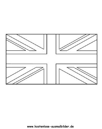 Ausmalbilder Malvorlagen Fahnen Vereinigtes Königreich