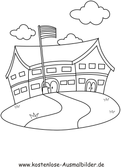 Ausmalbild Groޥs Haus