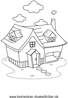 ausmalbilder haus - gebaeude zum ausmalen | malvorlagen häuser, Garten und Bauen