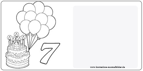 Ausmalbilder Siebter Geburtstag - Geburtstag zum ausmalen ...