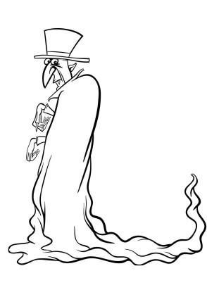 Ausmalbild Halloween Mann