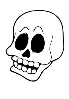 Ausmalbilder Halloween Totenkopf Ausmalbild
