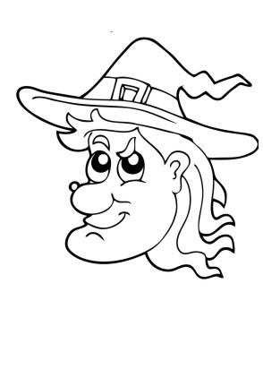 Ausmalbilder Hexe Gesicht - Halloween zum ausmalen | Malvorlagen Hexen