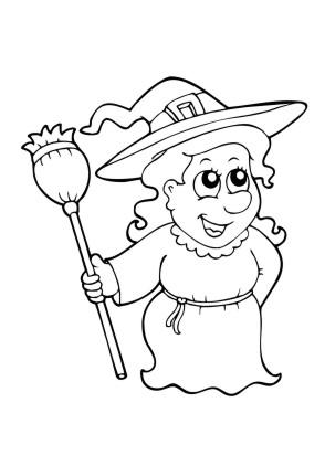 Ausmalbild Halloween Kostenlos - Cartoon-Bild