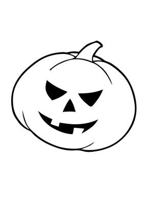 Ausmalbilder Böser Kürbis - Halloween zum ausmalen | Malvorlagen Kuerbis