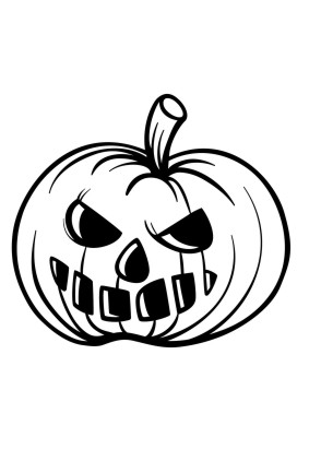 ausmalbilder halloween | kürbis4 ausmalbild