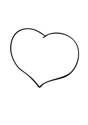 Ausmalbild Herz 1