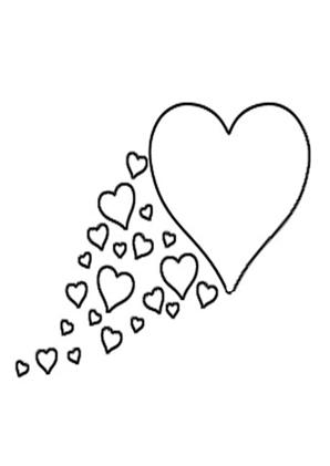 Ausmalbild Herz 2