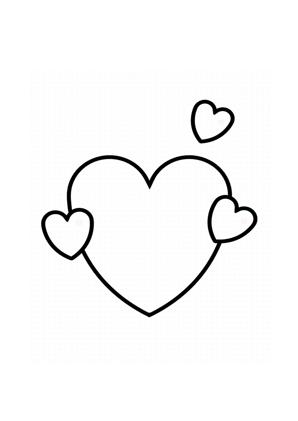 Herz - Herzen ausmalen | Malvorlagen