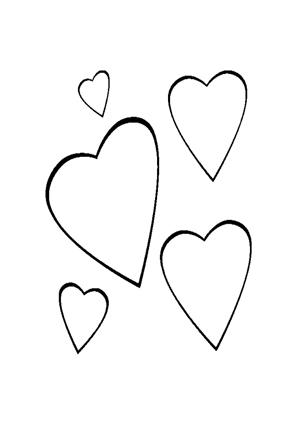 Ausmalbilder Ausmalbild Herzen