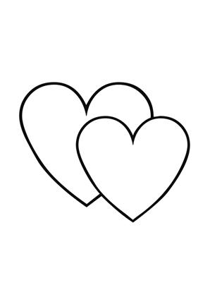 Ausmalbilder Malvorlagen Zwei Herzen