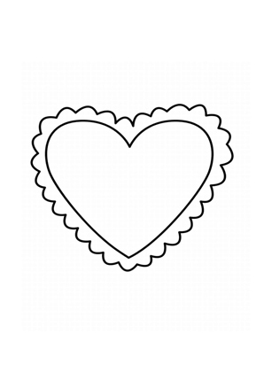 Ausmalbilder | Ausmalbild Herz 3