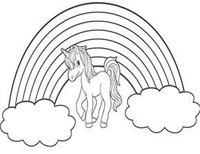 Ausmalbilder Einhorn Mit Regenbogen Coloring And Drawing