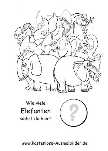 Z hlen lernen wie viele elefanten lernspiele kindergarten ausmalen malvorlagen - Menschen malen lernen kindergarten ...