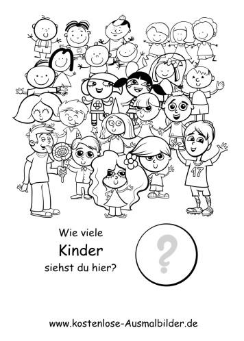 Zählen lernen   Wie viele Kinder - Lernspiele Kindergarten ...