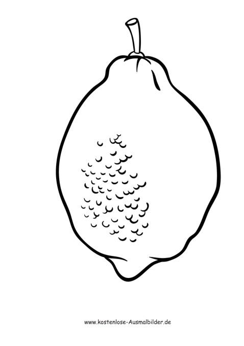 Ausmalbilder Zitrone - Lebensmittel zum ausmalen | Malvorlagen Fruechte