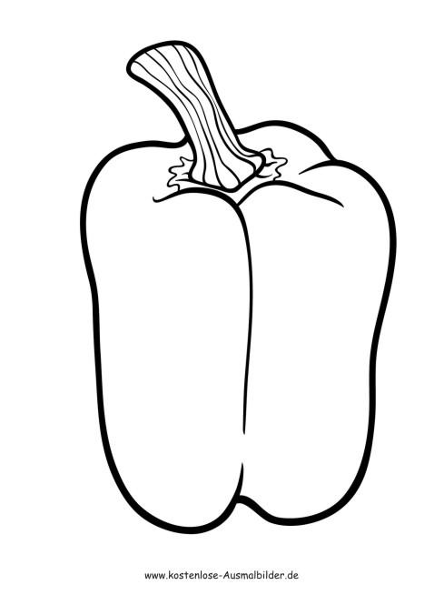 Ausmalbilder Malvorlagen Gemuese Paprika