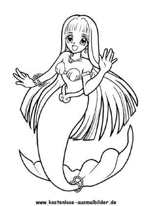 Ausmalbilder Malvorlagen Meerjungfrauen Meerjungfrau 2