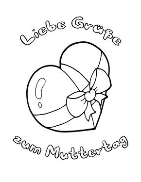 Ausmalbild Grusse Zum Muttertag Gratis Ausdrucken