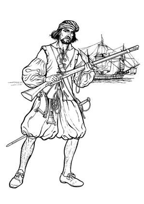 ausmalbilder pirat   ausmalbild pirat am strand zum ausdrucken