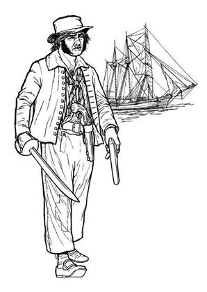 ausmalbilder pirat mit schwert piraten zum ausmalen malvorlagen pirat. Black Bedroom Furniture Sets. Home Design Ideas