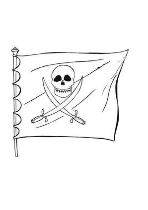 Ausmalbilder Piratenfahne Seeraeuber