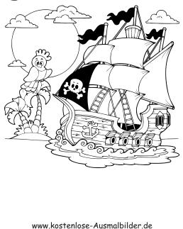 ausmalbilder pirat | ausmalbild piratenschiff zum ausdrucken