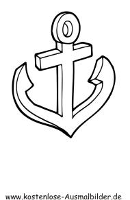 Ausmalbilder Anker - Piraten zum ausmalen   Malvorlagen Pirat