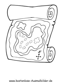 ausmalbilder schatzkarte piraten zum ausmalen malvorlagen pirat. Black Bedroom Furniture Sets. Home Design Ideas
