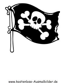 Ausmalbilder Totenkopf Flagge Piraten Zum Ausmalen Malvorlagen Pirat