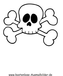 Ausmalbilder Malvorlagen Pirat Totenkopf