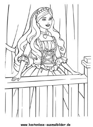 Ausmalbilder Prinzessin - Prinzessin ausmalen | Malvorlagen kl