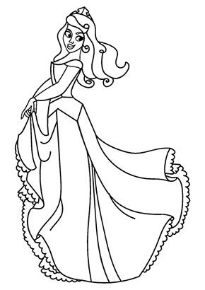 Ausmalbild Prinzessin Cinderella Gratis Ausdrucken