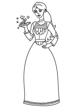 Ausmalbild Prinzessin Emmy Gratis Ausdrucken